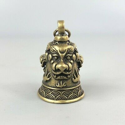 Chinese Rare Brass Handwork Dragon Collectible Antique Belle Pendant Statue