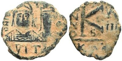 Byzantine coin of Justin II and Sophia - Carthage Mint - Scarce