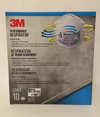 NEW(Box Of 10) N95 Face Mask Particulate Performance Respirator Masks Fast Ship!
