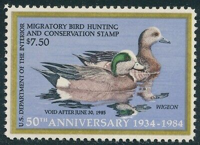 Dr Jim Stamps Us Department Of Interior Duck Scott Rw51 $7.50 Unused Og Nh