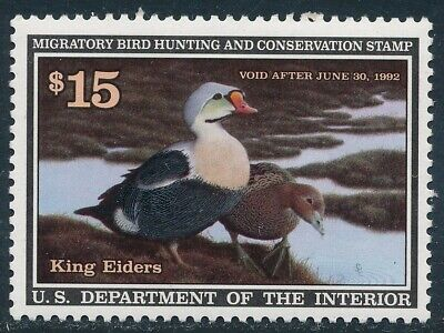 Dr Jim Stamps Us Department Of Interior Duck Scott Rw58 $15 Unused Og Nh
