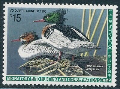 Dr Jim Stamps Us Department Of Interior Duck Scott Rw61 $15 Unused Og Nh