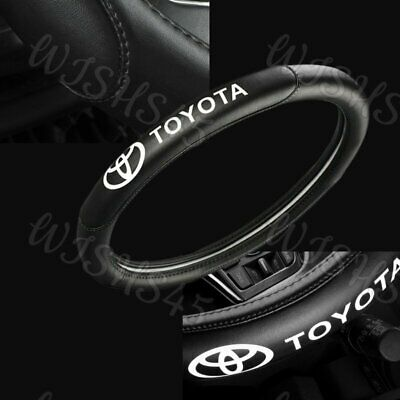 """15"""" Car Steering Wheel Cover Genuine Leather For Toyota New Black X1"""