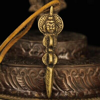 Nepal Recycling old Handmade Pure copper Magic pestle Pendant