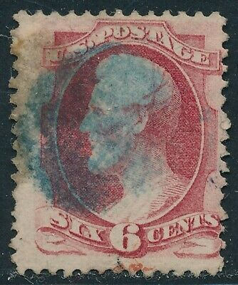 Dr Jim Stamps Us Scott 148 6C Lincoln Used Blue Cancel No Reserve Free Shipping