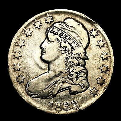1833 ~**XF++/AU**~ Silver Capped Bust Half Dollar Antique US Old Coin! #94F