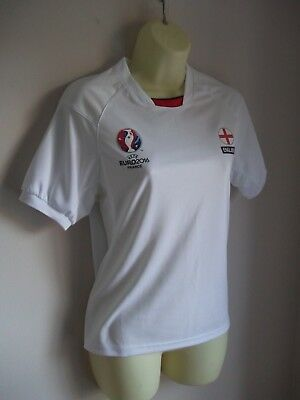 Official UEFA Euro 2016 England White Short Sleeve T-Shirt - Age 11-12 Years