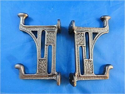 Pair Beautiful Arts And Crafts Style Cast Iron Mackintosh Coat Hook Hanger Door