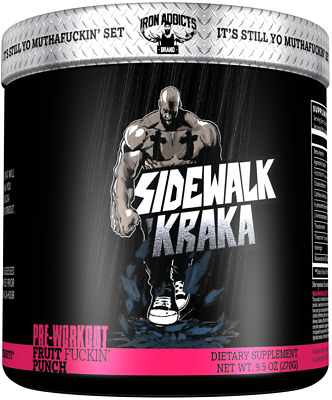 IRON ADDICTS USA Pre Workout Crazy Strong Energy Focus Pump 30 serv Fruit Punch