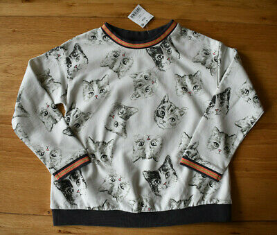 BNWT NEXT 7 years girls CAT SWEATER*JUMPER*TOP *with gold fibre!