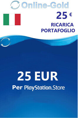 25 EURO PlayStation Scheda carte prepagate 25€ Eur Sony PSN PS3 PS4 PS Vita - IT