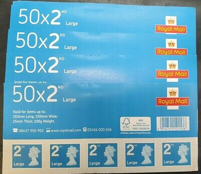 50x New Large 2nd Class Stamps