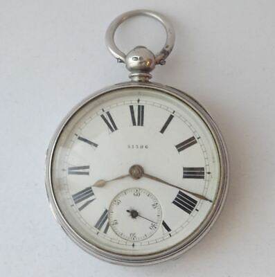 Good Antique Victorian English Sterling Silver Fusee Pocket Watch London