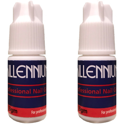 Millennium Nails Adhesive Glue 3x 3g Super Strong / False Nail Tips & Extensions