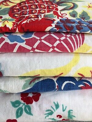 5 Vintage Cutter Re-Purpose Tablecloths