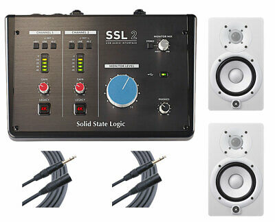 Solid State Logic SSL2 USB Interface + 2x Yamaha HS5 (White) + 2x Mogami Cables