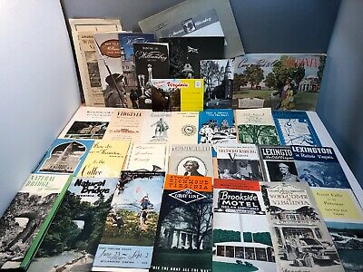 lot 30+ Virginia VA Tourist Travel Brochures & Booklets
