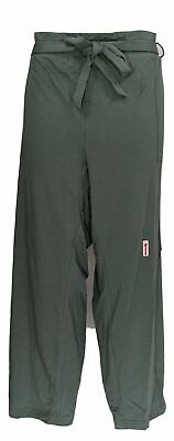 Anybody Women's Plus Sz Pants 2X French Terry Paperbag Waist Green A367666