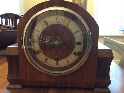 Vintage Perivale Westminster chime mantle clock