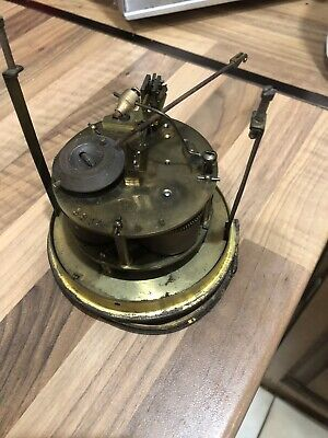 Antique French Clock Movement With Pendulum