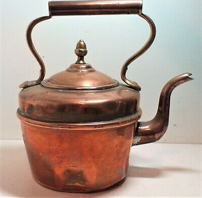 Arts &Crafts Copper Kettle,Great In Country Kitchen Or Inglenook, Steam Punk Too