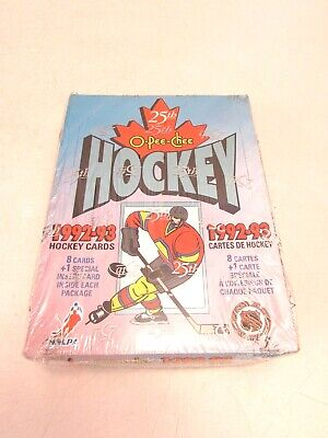 1992-93 O-PEE-CHEE NHL ICE HOCKEY FACTORY SEALED BOX, 36-Packs