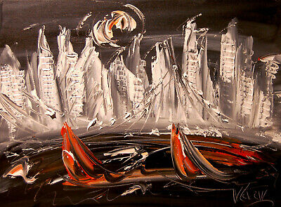 NYCITY  Mark Kazav  Abstract Modern CANVAS Original Oil Painting  CANADIAN ART