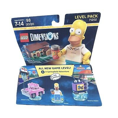 The Simpsons LEGO Dimensions Level Pack Toy Homer Duff Beer New Minor Dam Box