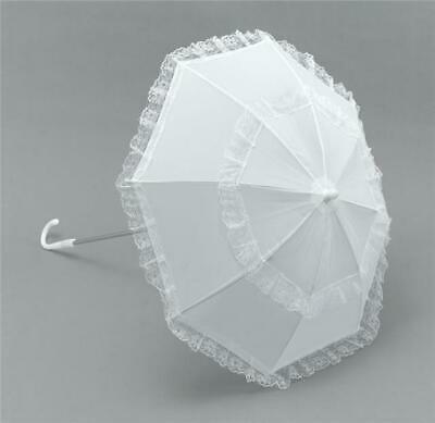 White parasol long handle Ladies / womens fancy dress