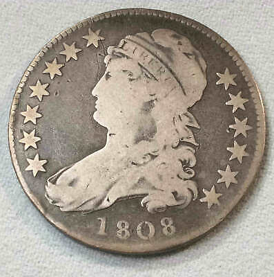 1808 Bust Half Scarce Early Date h5