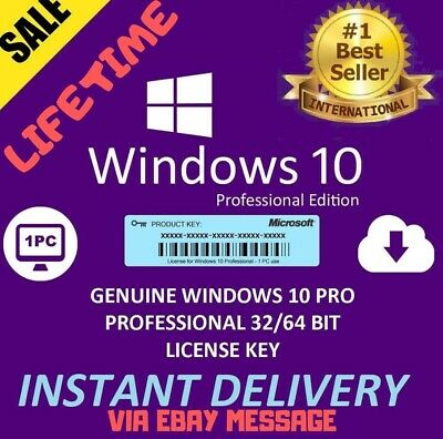 Windows 10 Pro 32/64 bit Licence Key Code Upgrade  - Instant Delivery