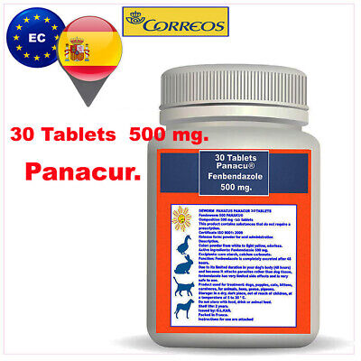 DEWORM PANACU® PANACUR 30 TABLETS-500 mg.in pill