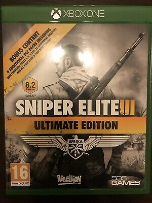 Sniper Elite 3 Ultimate Edition Microsoft Xbox One Game 16+ Years