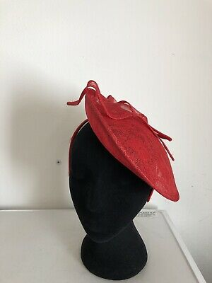 Red Lace Fascinator On Headband Weddings Christenings Ladies Day Ascot