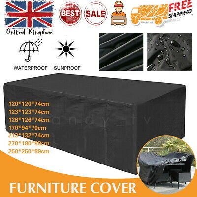 Outdoor XLarge Garden Patio Furniture Cover Cube Sofa Covers Table Waterproof UK