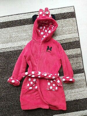 Girls Red Minne Mouse Dressing Gown 3-4 Years M&S