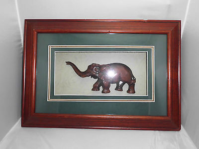 Antique Elephant Wooden Indian Art Rosewood Woodenware Carved Figure Collectible