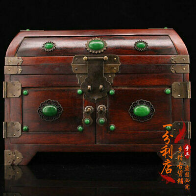 Exquisite Chinese antiques handmade solid wood case cv81