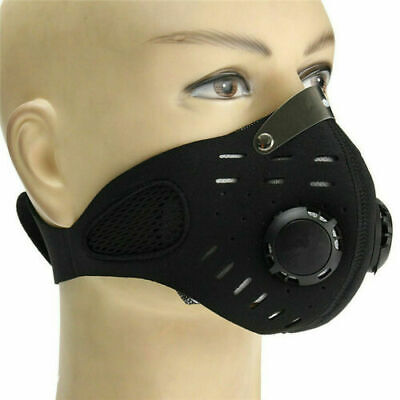 Reusable Anti Dust Smoke Allergy Respirator PM2.5 Face Mask Cover with Air Valve