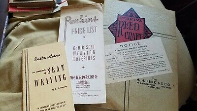 Early 1930'S Perkins Basket Supplies Catalog New Haven Connecticut