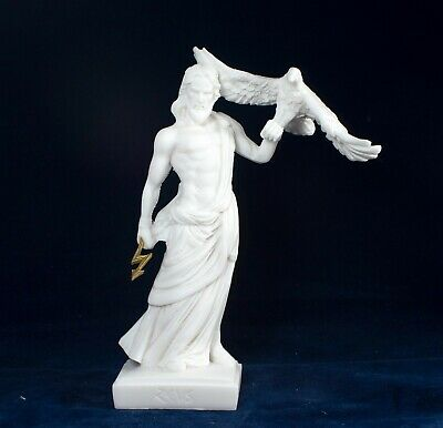 Zeus Statue Alabaster Sculpture Greek God of the Sky and King of the Gods