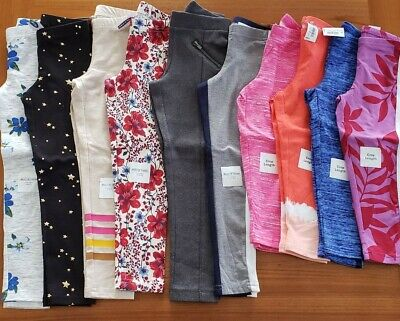 NEW Old Navy Girl SIZE 5 Leggings Pants Lot 10 PIECES Full / Crop Length #15-555