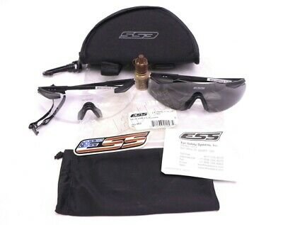 ESS ICE Ballistic Eyeshield 2 Lens Kit Smoke & Clear Lenses w/Case & Accessories