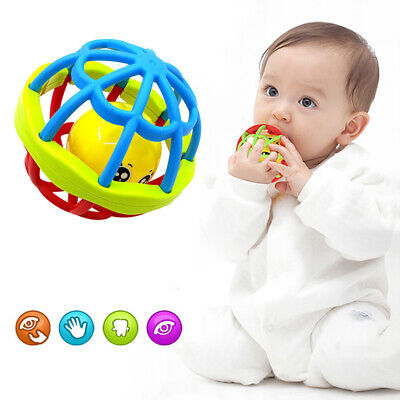 1pc Baby Rattles Teether Toys Ball Shaker Grab Spin Rattle Toy Puzzle Gift NEW