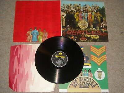 The Beatles vinyl lp Sgt Peppers LHCB mono PMC7027 1st Red Fools Inner Test Play