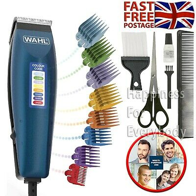 Professional Hair Clippers Wahl Colour Coded Set Mains Operated Trimmer Shaver