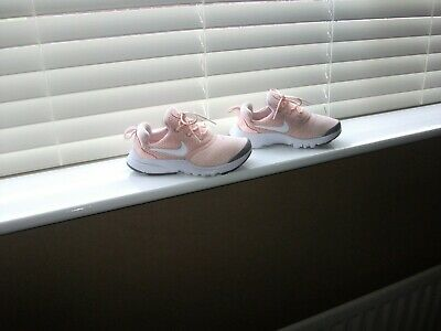 Girl's Nike Presto Peachy Pink Sports Trainers Size 13.5 Vgc