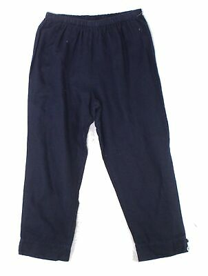 HC LA Womens Pants Deep Blue Size XL Linen Capris Cropped Stretch $58 281
