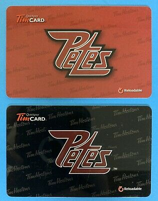 2013 & 2014 PETERBOROUGH PETES TIM HORTONS OHL HOCKEY GIFT CARDS - New No Value