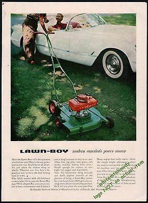 WOMAN MOWS LAWN 1955 LAWN-BOY PUSH LAWN MOWER Vintage Look REPLICA METAL SIGN